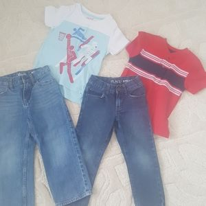 4t boys outfits jeans denim and shirts